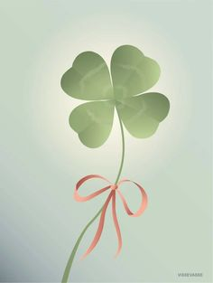 good luck poster from ViSSEVASSE with four-leafed clover Wall Wallpaper, Iphone Wallpaper, Digital Illustration, Graphic Illustration, Rose Bridal Bouquet, Miniature Photography, Eco Friendly Paper, Great Tattoos, Leaf Art