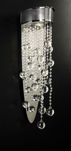 Battery Operated Crystal Wall Sconces : 8022 CRYSTAL WALL SCONCE by Diva Rocker Glam (310) 652-8711, via Flickr