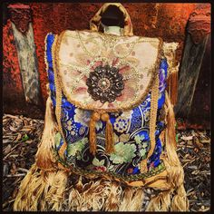Boho Gypsy Pandora Sling Purse Backpack door MorningGloryTeahouse