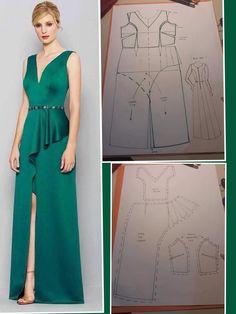 Corset Sewing Pattern, Tunic Sewing Patterns, Sewing Blouses, Blouse Patterns, Clothing Patterns, Evening Dress Patterns, Pattern Draping, Handmade Dresses, Fashion Sewing