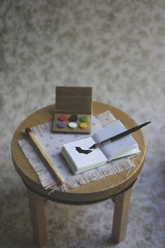 Lasituvan Miniatyyrit - Lasitupa Miniatures: DIY: Paint brush - sivellin 1/12