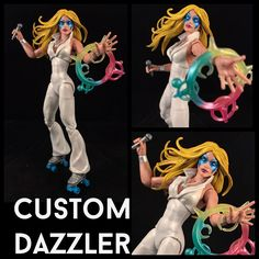 This is a custom of x-mens Dazzler Comes with power effect and microphone. She is 6 inches tall and goes great with the Marvel Legends Infinite Series collection. She is fully posable. Payment must be made within 3 days of the auction ending, unless agreed upon. SHIPS TO USA ONLY   eBay!