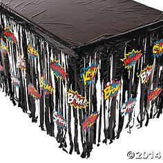 Superhero Table Skirt with Cutouts $8.50