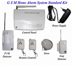 Wireless GSM Alarm System - Sends you an SMS when triggered Alarm Systems For Home, Security Camera, Remote, Backup Camera, Spy Cam