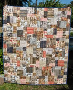 Love Tim Holt'z Eclectic Elements for this quilt.  Great pattern called Easy Bake by Cluck Cluck Sew.