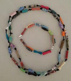 Paperbead necklace & bracelet