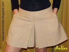 Truco para convertir el patron de una falda cualquiera en pantalón