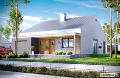 Modern house plans for young couples - Houz Buzz Modern Family House, Modern Barn House, Modern House Plans, Small Cottages, Weekend House, Modern Ranch, Facade House, Exterior Design, Architecture Design