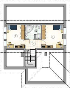 Rzut Mój Dom Rzeżucha CE Dom, Floor Plans, Case, Two Story Houses