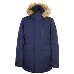 Orobos Fur Trim Long Sleeve Hooded Parka Jacket ( 315) ❤ liked on Polyvore  featuring 7723f78333