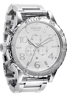 Nixon 51-30 High Polish White Chrono