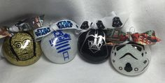 Star Wars Christmas Holiday Ornament Geek Nerd Darth Vader, Stormtrooper, C3PO and R2-D2