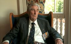 """Battle of Britain pilot: Wing Commander P. C. Farnes joined 501 Squadron in September 1939 and during his time with Royal Air Force he shot down eight enemy planes. He was awarded the Distinguished Flying Medal on 22nd of October 1940. """"It was just part of my life,"""" Mr Farnes said of his time in a battle that is widely regarded as saving Britain from German occupation, """" I've got no particular feelings about it, I quite enjoyed it really."""""""