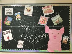 Charlotte's Web bulletin board for library