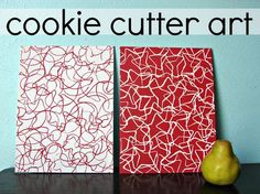 In case you missed it.....cookie cutter art.... - A girl and a glue gun