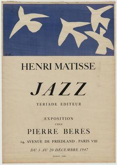 """ Henri Matisse: ""Henri Matisse, Jazz. 1947. Lithograph. 24 7/8 x 17 5/8"" (63.2 x 44.7 cm). Mourlot, Paris. Gift of William S. Lieberman. 478.1951. © 2016 Succession H. Matisse / Artists Rights Society (ARS), New York...."