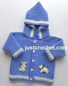 Free baby crochet pattern boys hooded jacket uk