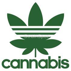 Cannabis Athletics #tshirts #stickers #mmj #mmot #clothing #marijuana