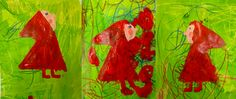 petit chaperon Preschool Curriculum, Kindergarten, Fairy Tale Crafts, Crafts For Kids, Arts And Crafts, Petite Section, Wolf, Red Riding Hood, Toulouse