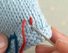 """Good tutorial on duplicate stitch from """"little cotton rabbits"""""""
