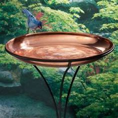 This would be beautiful as a side table.  Copper birdbath #OPIEuroCentrale #AWomansPragueative