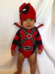 Image result for deadpool baby costume
