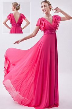 2013 Hot Pink Empire V-neck Prom Dress Chiffon Ruch Brush Train bridesmaid dress in tidewater or Junior Prom Dresses, V Neck Prom Dresses, Prom Dresses Online, Cheap Prom Dresses, Dresses 2013, Dress Online, Prom Gowns, Ball Dresses, Homecoming Dresses