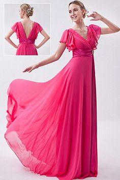 Chiffon A-Line V-Neck Mother Of Bride Dress sfp1159 - http://www.shopforparty.com/chiffon-a-line-v-neck-mother-of-bride-dress-sfp1159.html - COLOR: Pink; SILHOUETTE: A-Line; NECKLINE: V-Neck; EMBELLISHMENTS: Crystal , Draped , Ruched; FABRIC: Chiffon - 15
