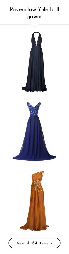 """Ravenclaw Yule ball gowns"" by weeby ❤ liked on Polyvore"