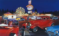 hot art | Hot Rod Art, Sammy's Playland, 60s Hot Rods and Customs, Hot Rod Art ...