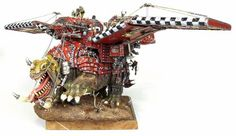 Warhammer 40k Ork Squiggoth...  With wings. What all of us non-Ork players hope will never happen