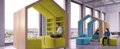 Open-plan office space may be all the rage, but sometimes you need a little seclusion for the best productivity. Singapore-based architect Dymitr Malcew's new Treehouse collection creates cozy modular cubbies in the office for working in small groups or alone. The breakout dividers can be rolled around and reconfigured to suit the creative needs of a company's thinkers.