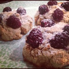 blackberry, coconut, dark chocolate scones (gluten, dairy, and refined ...