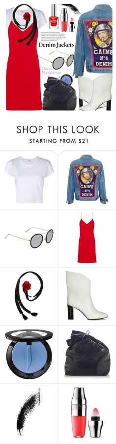"""Denim Trend: Jean Jackets"" by smartbuyglasses-uk ❤ liked on Polyvore featuring RE/DONE, Gucci, Calvin Klein Collection, Betsey Johnson, Acne Studios, Sephora Collection, Marni, Lancôme and jeanjackets"