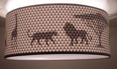 Plafondlamp Silhouette - Jungle Silhouette, Triangle, Prints, Design, Home Decor, Hostel, Lamps, Lion, Homemade Home Decor