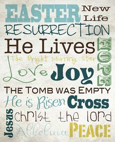 Easter Subway Art Free Printables