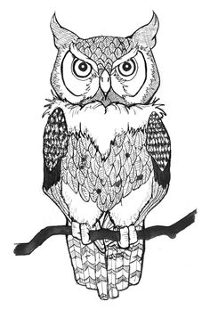 Owl Outline Tattoo Owl Chest Tattoo Designs. Owl Outline Tattoo Owl ...