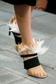 Feathery feet for Reed Krakoff's Spring 2013 collection. #nyfw