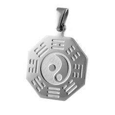 Stainless Steel Ying Yang Design Pendant