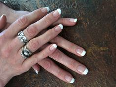 Natural nail gel polish French by Elaine