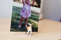 Make your own 'Animal Photoholder by sawing some plastic animals in half and gluing small magnets on both parts