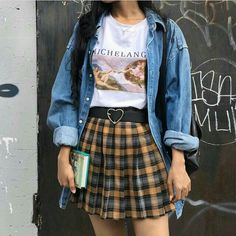 """So """"Dad Fashion"""" Is Officially Our Favorite 2018 Fashion Trend 2020 - vintage summer outfits outfits vintage shorts vintage dress vintage fashion vintage outfits summer beach dress summer beach wear summer dress flowers - Vintage Outfits Tomboy Outfits, Mode Outfits, Retro Outfits, Casual Outfits, Teen Outfits, Soft Grunge Outfits, Grunge Clothes, Teenager Outfits, Classy Outfits"""