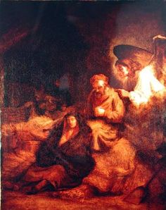 The Dream of St Joseph. Rembrandt van Rijn.