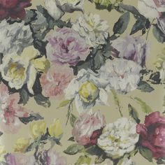 Designers Guild - Octavia - Linen from Contarini & The Edit. Designers Guild Wallpaper, Designer Wallpaper, Kuta, Linen Wallpaper, Tricia Guild, Drops Patterns, Pip Studio, Vintage Fabrics, Flower Art