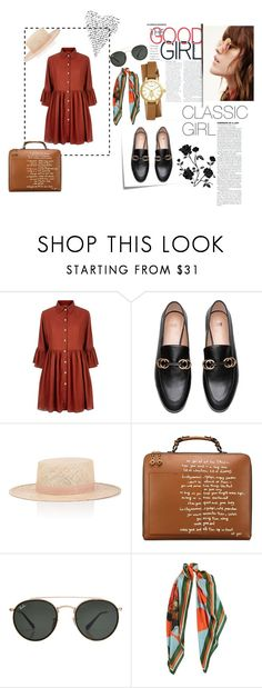 """New Classic"" by krnas on Polyvore featuring Post-It, Mela Loves London, Janessa Leone, Tory Burch and Ray-Ban"