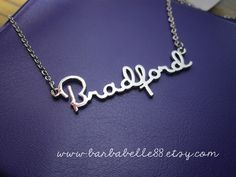 Personalized  jewelry - Custom name necklace - chain included .(font 8).