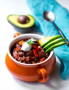 Sweet Potato Lentil Bean Vegan Chili