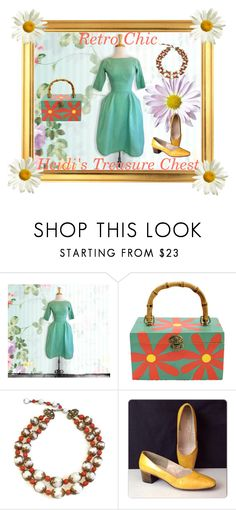 """""""Retro Chic"""" by heidi-calamia-galati ❤ liked on Polyvore featuring vintage, women's clothing, women's fashion, women, female, woman, misses and juniors"""