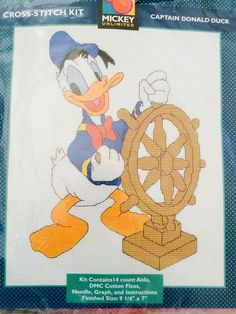 Mickey Unlimited Captain Donald Duck Cross by ncknittinchick