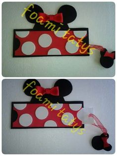 Invitacio  minnie mouse roja